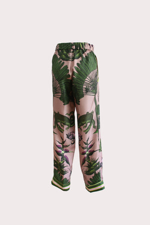 Katyusha Croco twill silk pants