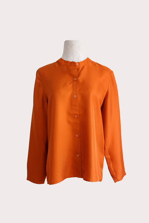 Katyusha Fiery brown classic blouse