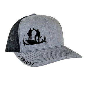 """ElkBros"" Hat  - Heather Gray/Black"