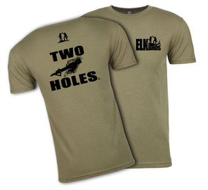 """Two Holes"" Tee - Olive"