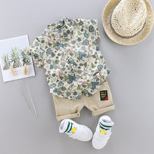 Load image into Gallery viewer, New Outfits Toddler Boy Clothing Summer Print Set Children Clothing Short Sleeve Shirt Suit for Baby Boys Suit for Kids Clothes