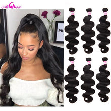 Load image into Gallery viewer, Ali Coco Brazilian Body Wave Hair Weave Bundles 100% Human Hair Bundles 1pc Non Remy Hair Extensions  3 or 4 Bundles Can Buy