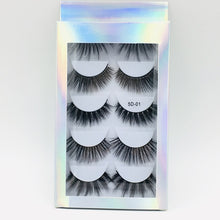 Load image into Gallery viewer, 5 Pairs Multipack 5D Soft Mink Hair False Eyelashes Handmade Wispy Fluffy Long Lashes Natural Eye Makeup Tools Faux Eye Lashes