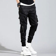 Load image into Gallery viewer, 2020 Hip Hop Boy Multi-pocket Elastic Waist Design Harem Pant Men Streetwear Punk Casual Trousers Jogger Male Dancing Black Pant