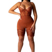 Load image into Gallery viewer, Women Sexy Romper Lace Backless Shorts Jumpsuit Hollow Out Playsuit Bodysuit
