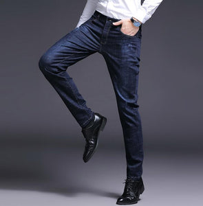2019 Top Quality Straight Stretch Slim Men Jeans On Hot Sales Business Casual Denim Pants