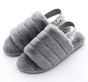 Fluffy Slippers Women Winter Shoes Fur Slides House Slipper Indoor Home Shoes Ladies Flat Sandals Pantoffels Dames Zapatos Mujer