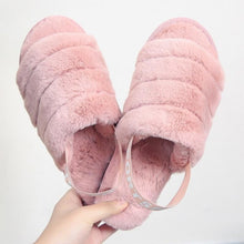 Load image into Gallery viewer, Fluffy Slippers Women Winter Shoes Fur Slides House Slipper Indoor Home Shoes Ladies Flat Sandals Pantoffels Dames Zapatos Mujer
