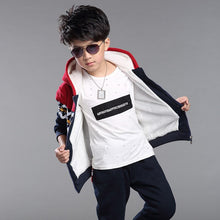 Load image into Gallery viewer, Boys Clothes Winter Children Clothing Set Warm Velvet Suit Kids Tracksuit Hooded Sweatshirt+Pants Boys Costumes Sports Set