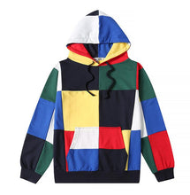 Load image into Gallery viewer, yizlo suprem hoodies for men women hoodie streetwear hip hop harajuku big colorful plaid sweatshirt