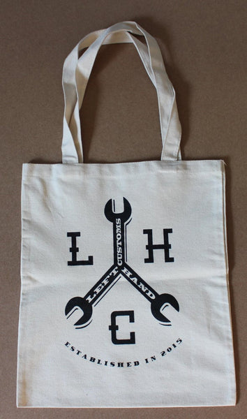 Cotton tote bag with logo - Left Hand Customs