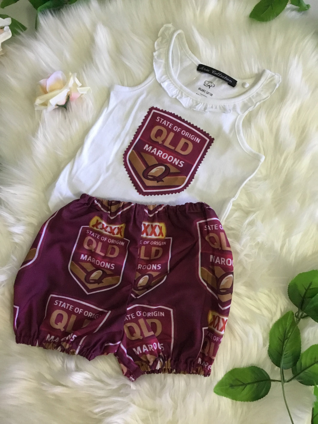 Girls Maroons Two Piece