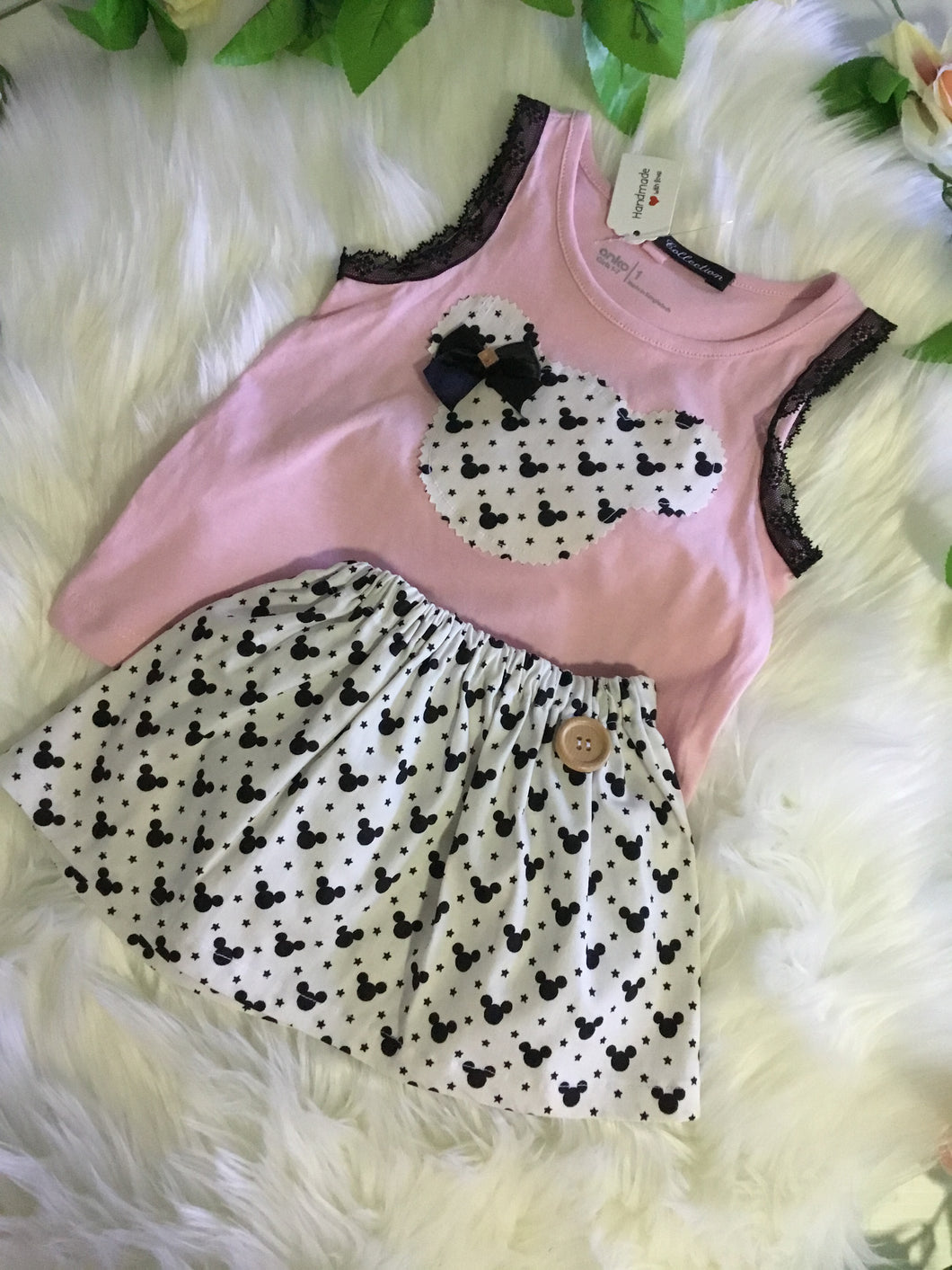 Two piece pink popular character set