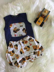 Boys Digger Design two piece