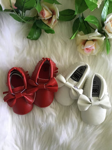 Girls Bow Front Pre- Walker Shoes