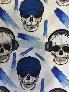 Headphone Skull Design Fabric