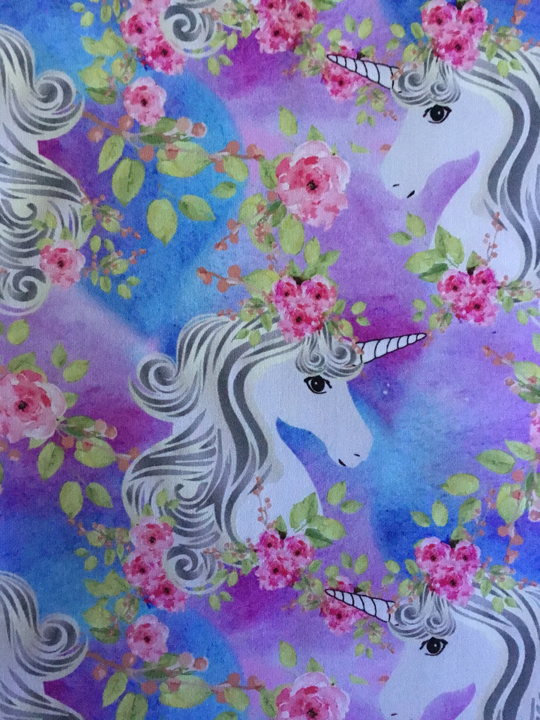 Floral Unicorn Fabric