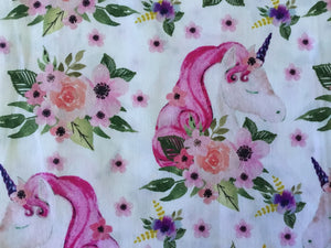 Unicorn Floral Fabric