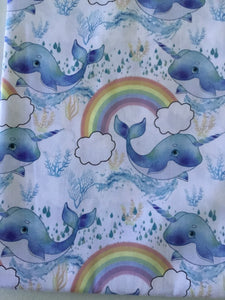 Unicorn/Whale Fabric