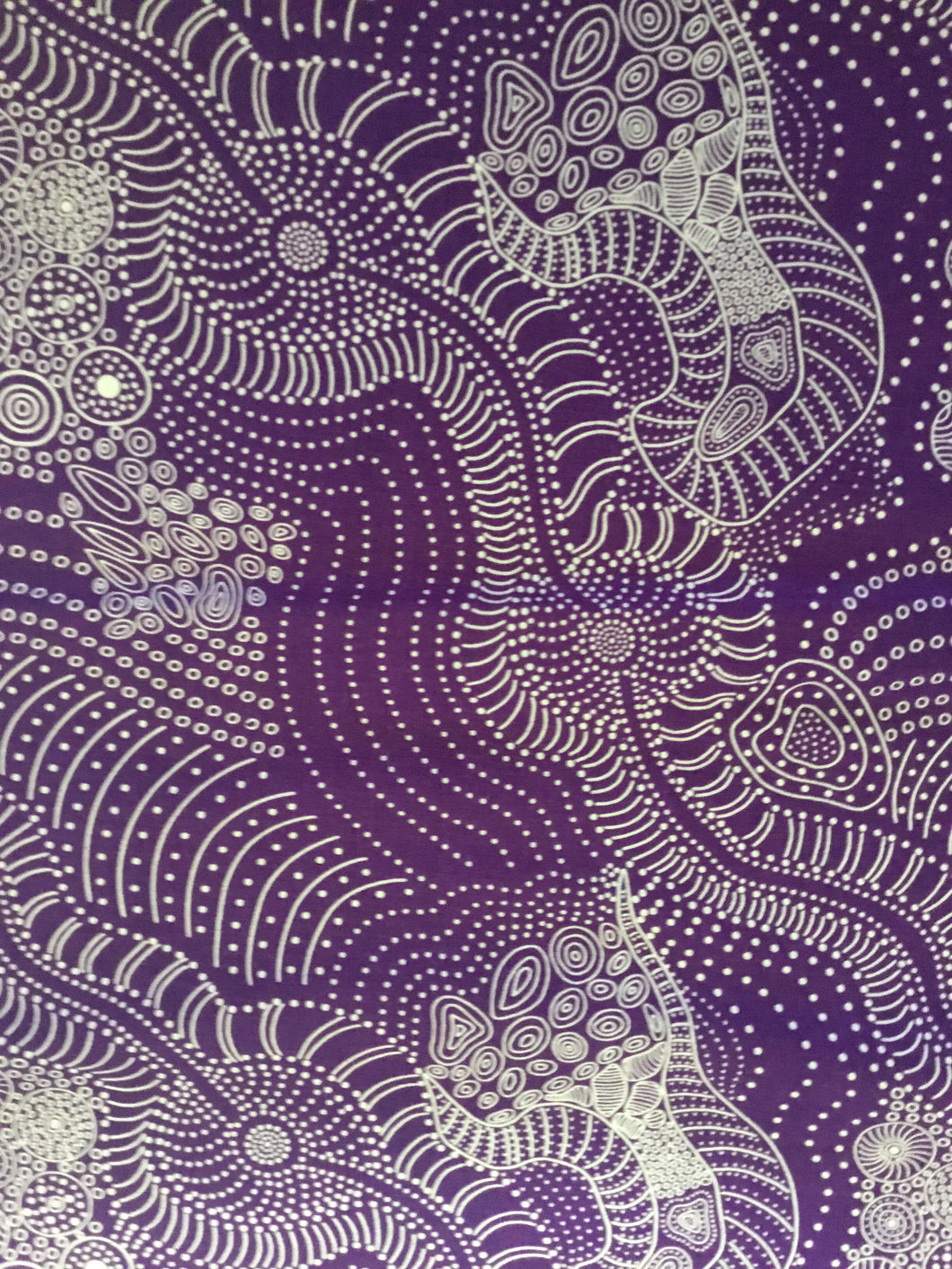 Purple Aboriginal Fabric