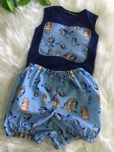 Handmade Girls Charactor Shorts with Detachable Straps