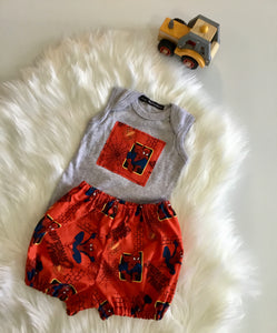 Superhero boys two piece