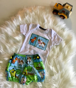 Baby Boy Two Piece Farm Design