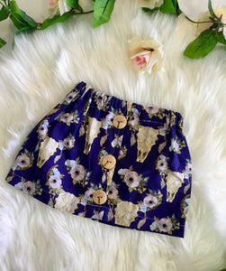 Steer Head Skull Skirt
