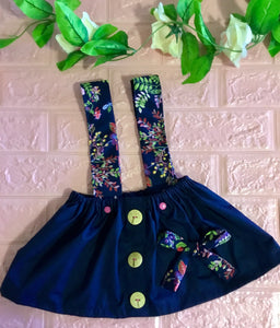 Handmade Girls Navy Skirt