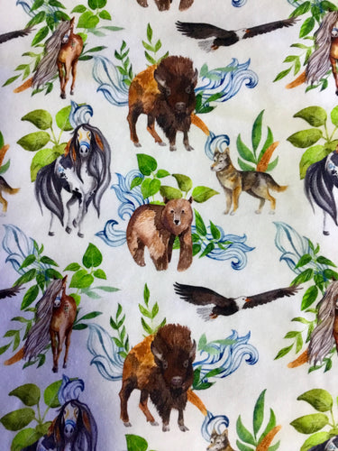 Knit Fabric 'Spiritual Animal' Design