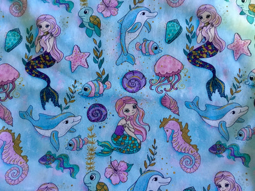 Knit Fabric Mermaid Design