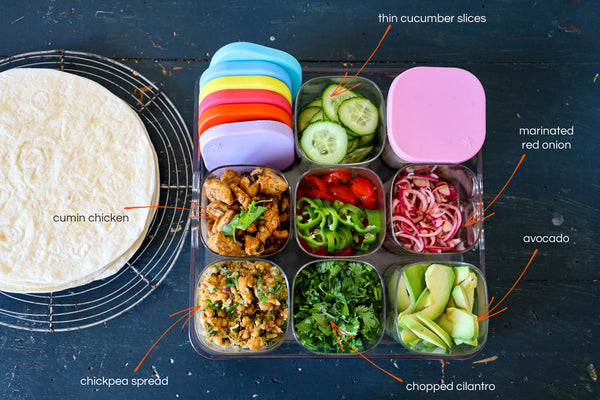Healthy Wrap Fillings Station