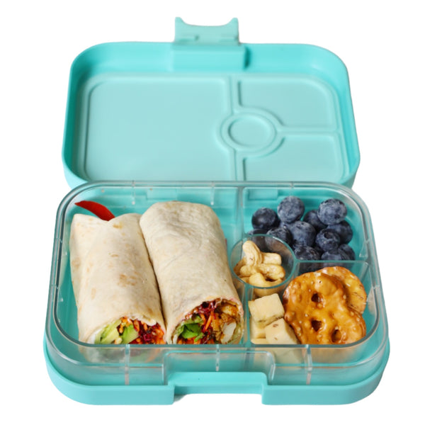 Yumbox Panino filled with veggie wraps packed lunch