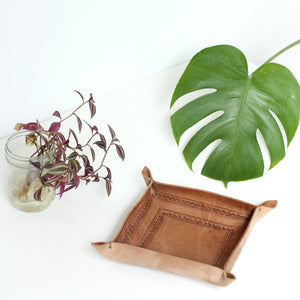 Moroccan Leather Valet Tray