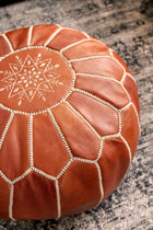 Traditional Moroccan Leather Pouf