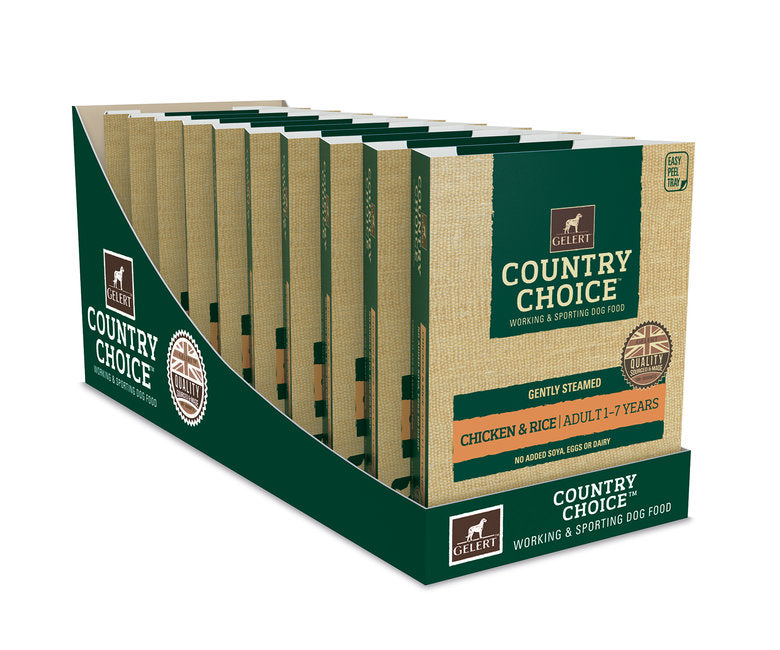 Gelert Country Choice, Chicken & Rice Tray - x10 - Riva Pet Products