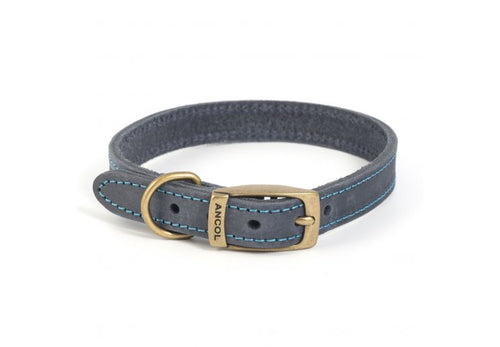 Timberwolf Leather Collar. - Riva Pet Products