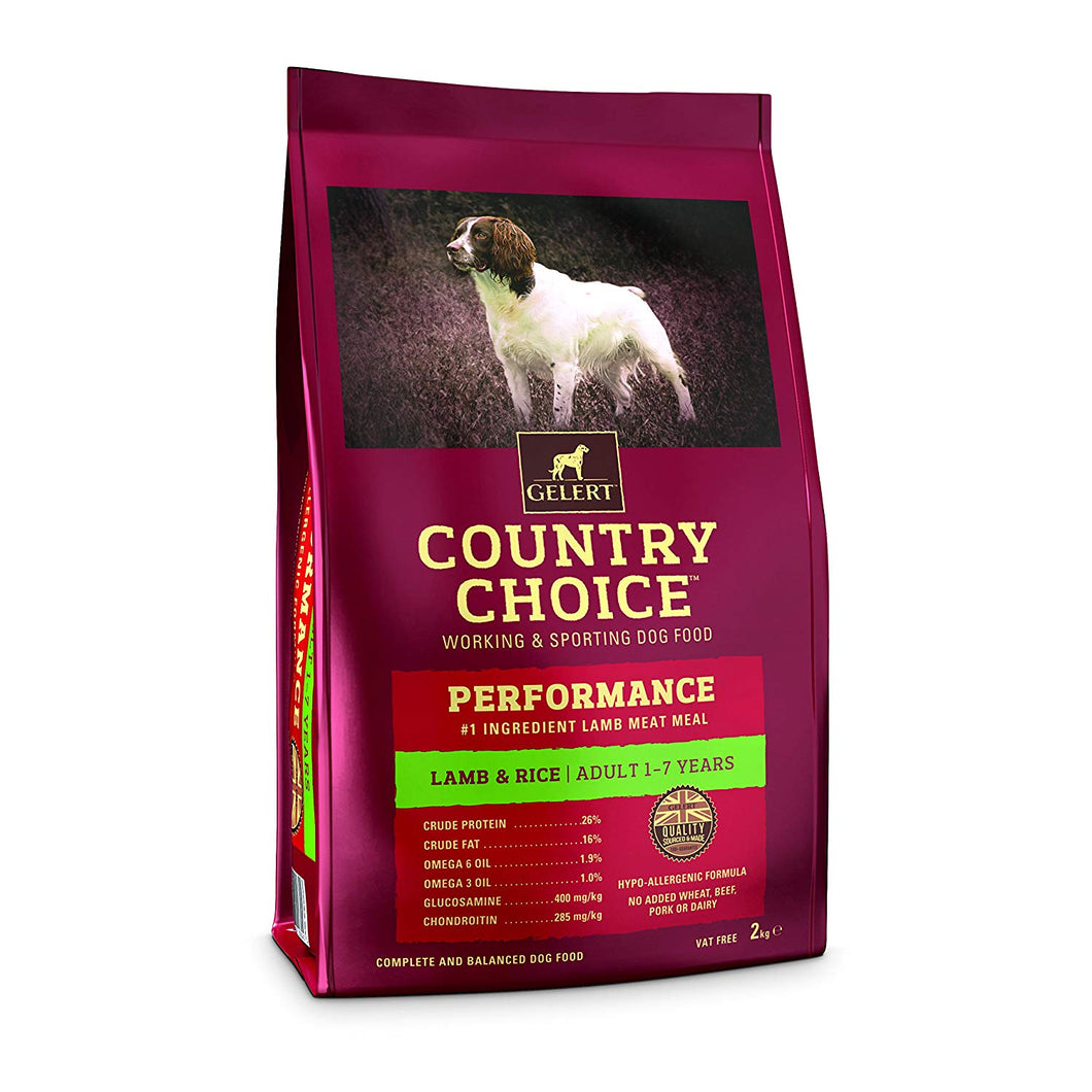 Gelert Country Choice, Performance Lamb & Rice. - Riva Pet Products