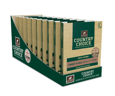 Gelert Country Choice, Turkey & Rice Tray - x10 - Riva Pet Products
