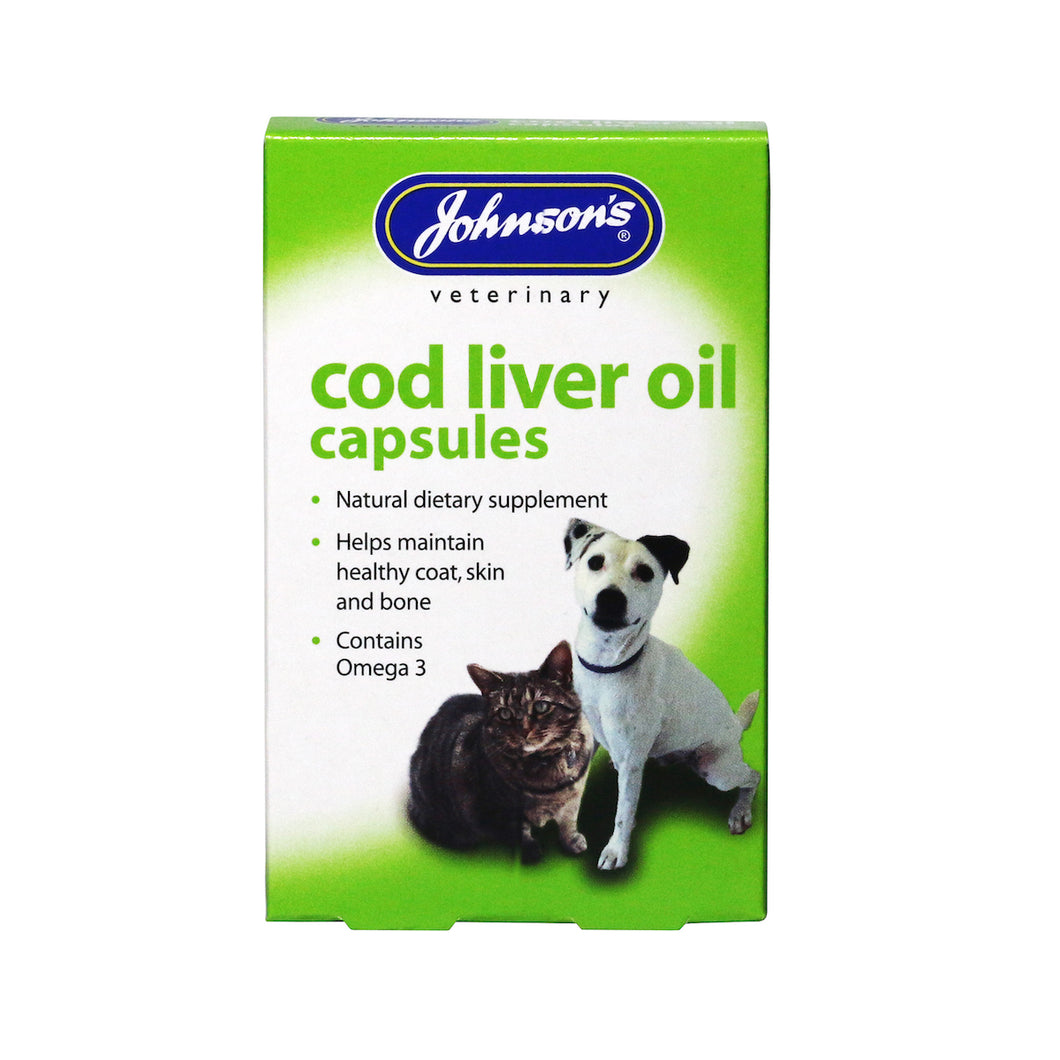 Cod Liver Oil Capsules. - Riva Pet Products