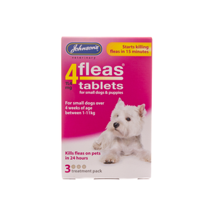 4fleas Tablets for Puppies & Small Dogs, 3 pack. - Riva Pet Products