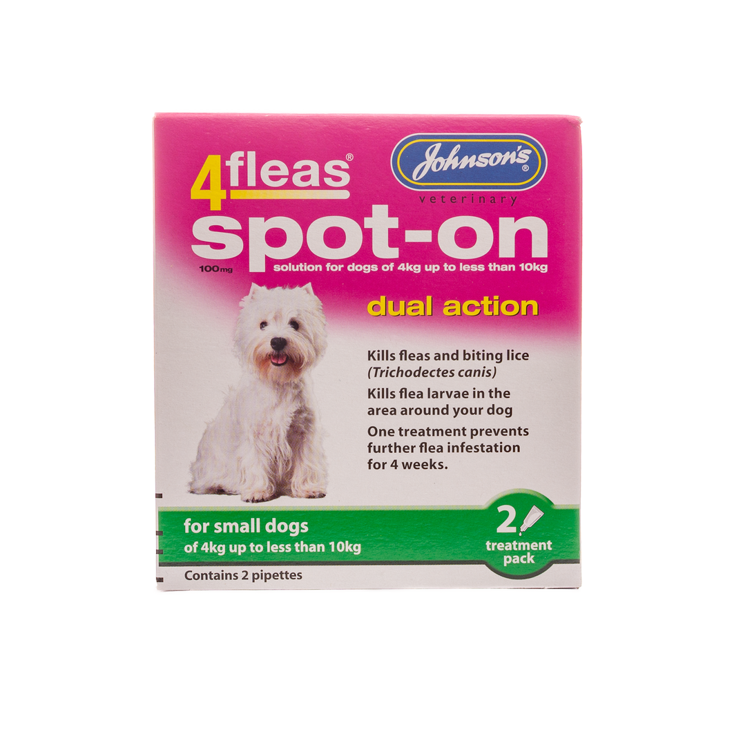 4fleas Spot-on for Small Dogs. - Riva Pet Products