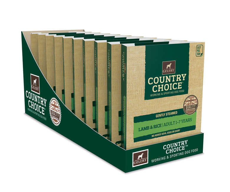 Gelert Country Choice, Lamb & Rice Tray - x10 - Riva Pet Products