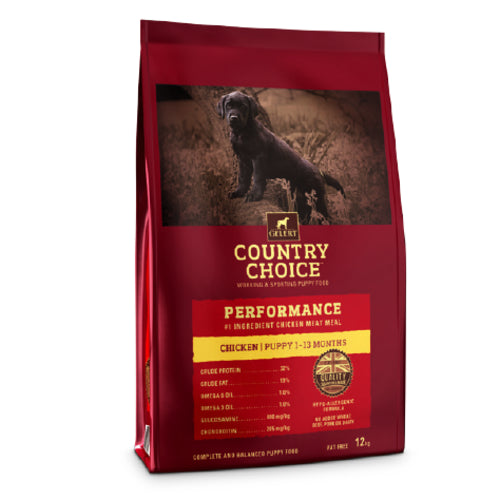 Gelert Country Choice, Performance Chicken & Rice (Puppy Food). - Riva Pet Products