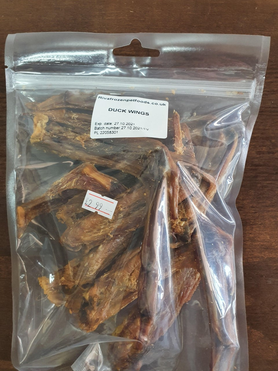 Duck Wings, Natural Dog Treat. - Riva Pet Products