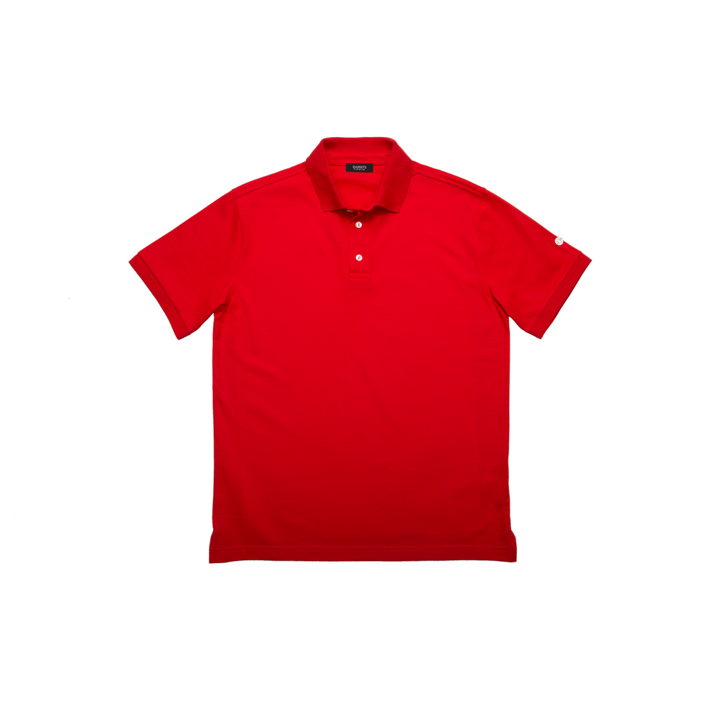 DARIO'S Couture Poloshirt Stuttgart in 100% Baumwollpiqué in Red