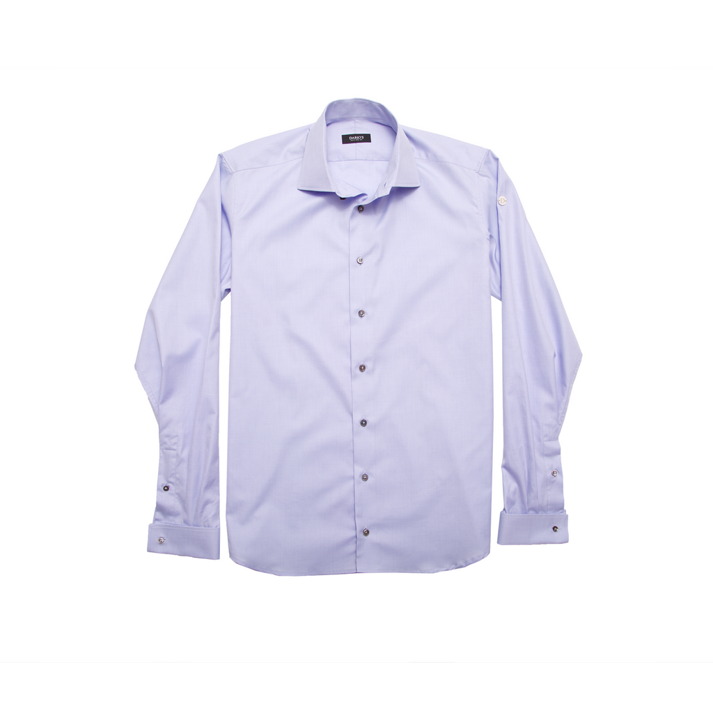 DARIO'S Couture Men's Shirt Lübeck Mixed Cuff 140/2 in Lightblue