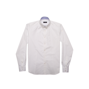 DARIO'S Couture Button-Down Herrenhemd Berlin, 140/2 in WEISS