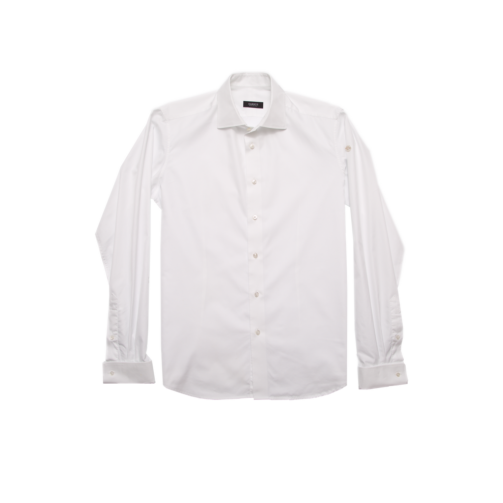 DARIO'S Couture Men's Shirt Lübeck Mixed Cuff 140/2 in White