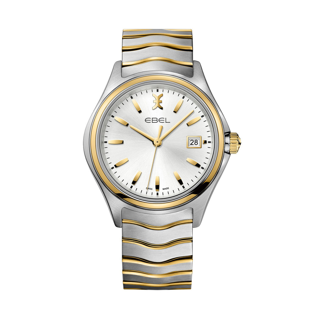 EBEL WAVE LADY, EDELSTAHL, 18K GOLD AND MOTHER-OF-PEARL AND DIAMONDS. Ø: 30 MM
